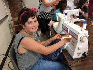 Summer Learning, sewing