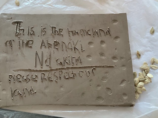 Handmade Abenaki Sign