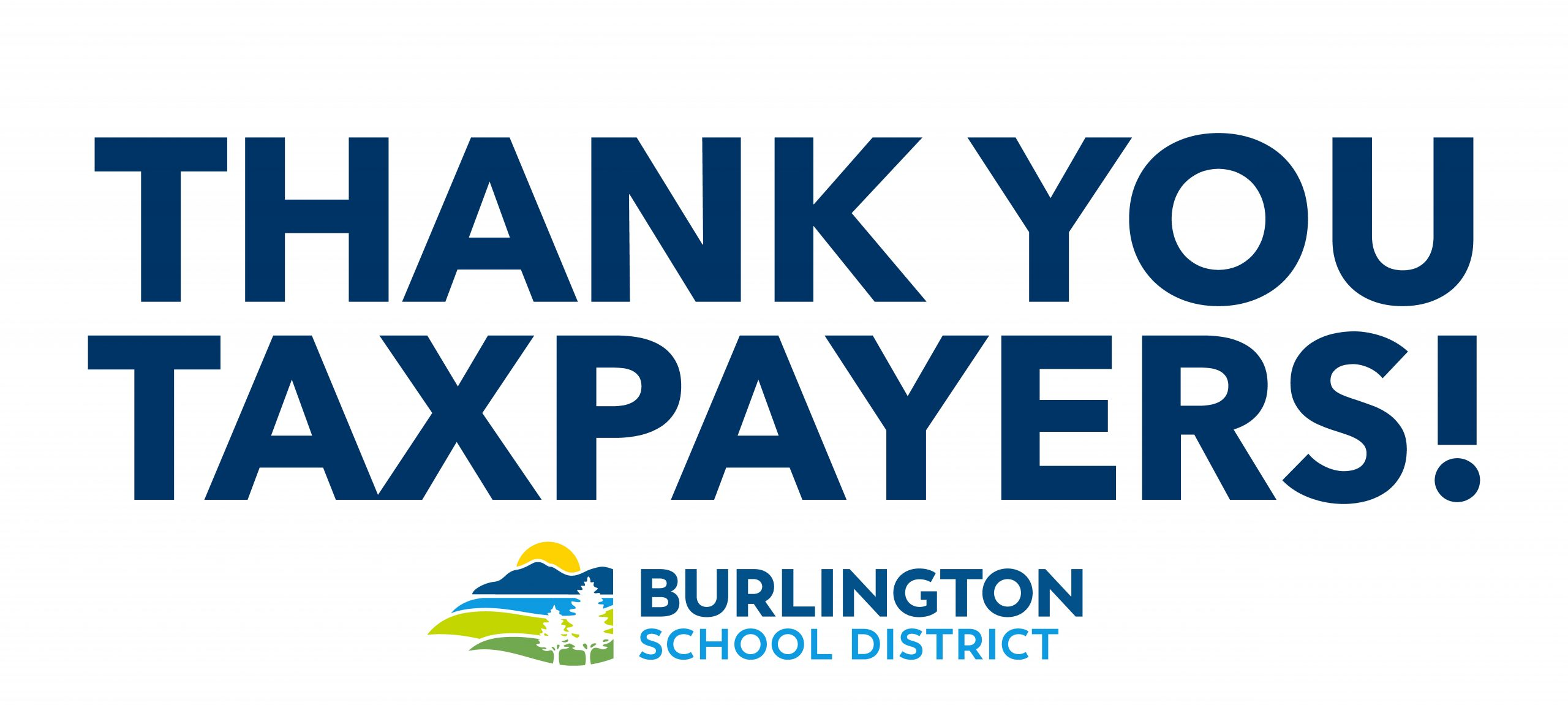 Thank You Taxpayers