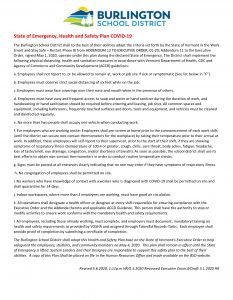 Draft BSD State of Emergency, Health and Safety Plan COVID-19 5.6 V2