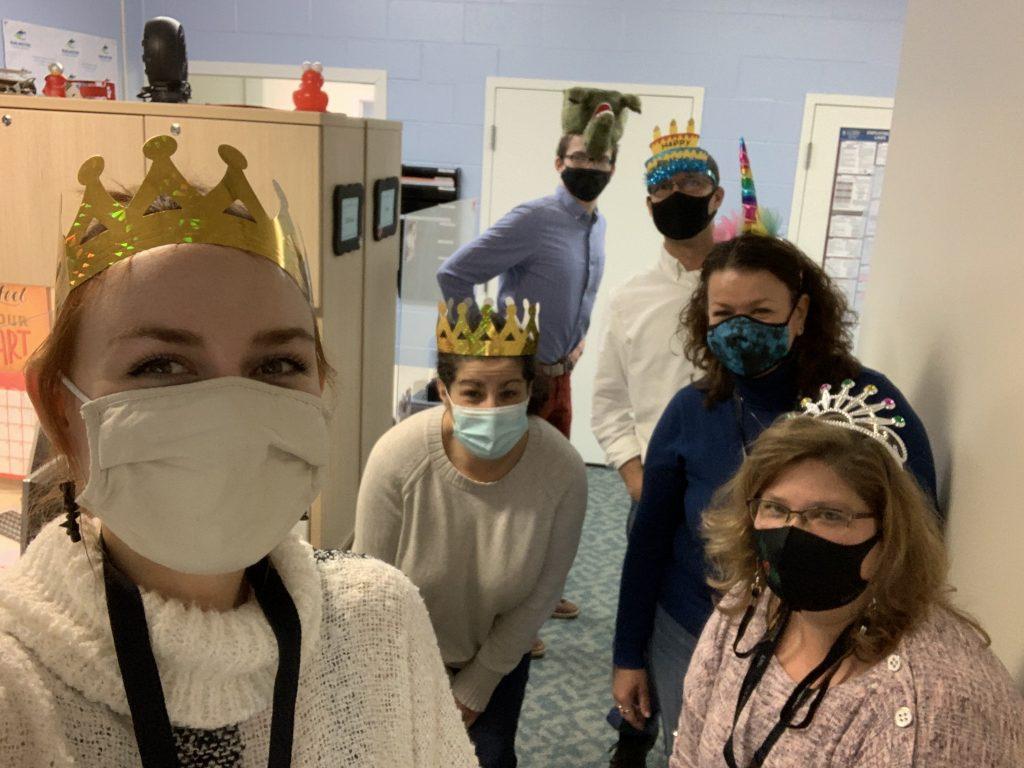 HR Team in Birthday Hats
