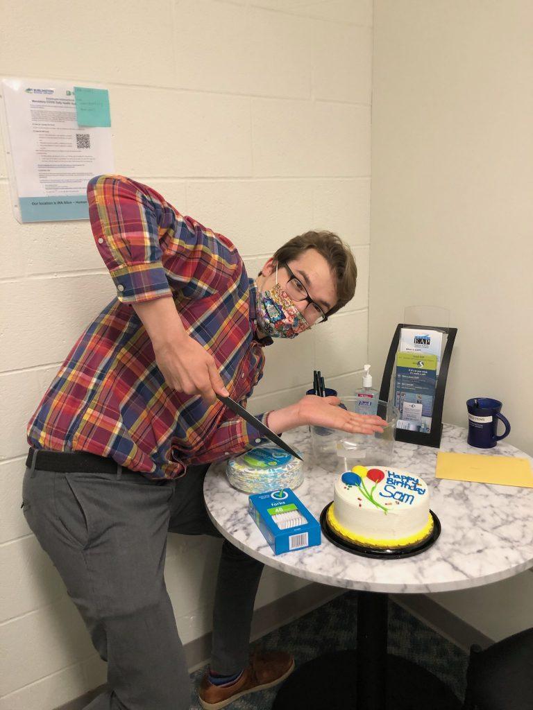 Sam with Birthday Cake
